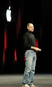 Steve Jobs delivering the keynote during Macworld expo ,2005