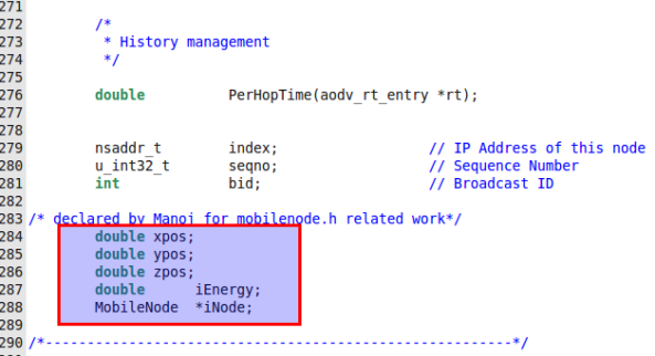 Obtaining Node Position and Energy Dynamically in NS2 34 | Mano